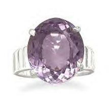 Oval Faceted Amethyst Ring - $109.95