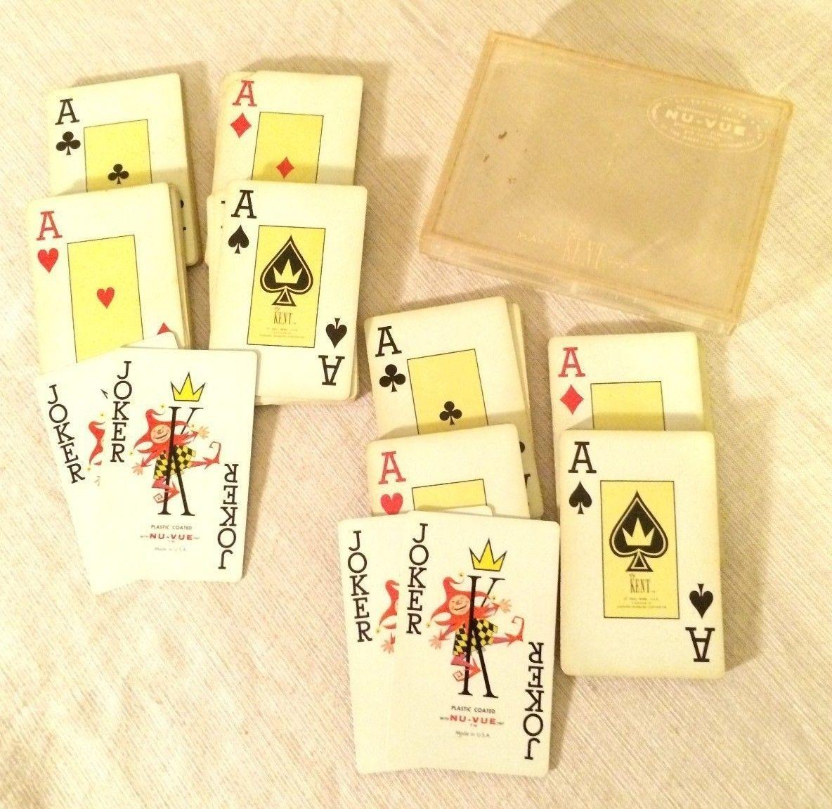 (2) Vintage Kent Nu-Vue Flintlock Pistols Playing Cards Decks USA - $29.69