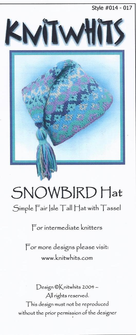 Knitwhits Snowbird Hat~Fair Isle Knitting Kit and 50 similar items