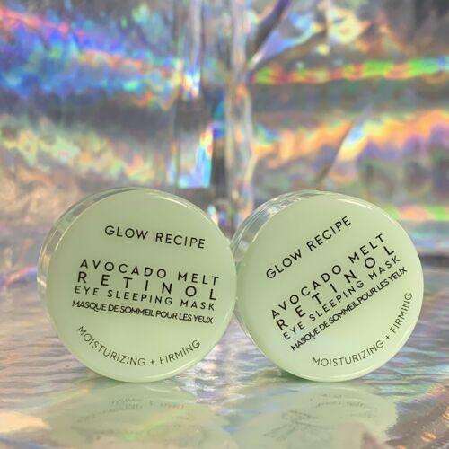 TWO Glow Recipe Avocado Melt Retinol Eye Sleeping Mask 5mL =10mL = 2/3 Of FullSz