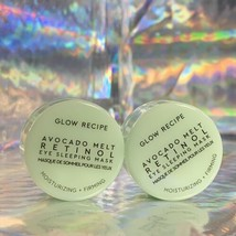 TWO Glow Recipe Avocado Melt Retinol Eye Sleeping Mask 5mL =10mL = 2/3 Of FullSz