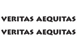"VERITAS AEQUITAS ""Truth and Justice"" Hood Decals for your Jeep Wrangler - $26.00"