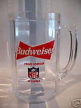Vintage BUDWEISER BEER Mug NFL BUFFALO BILLS Football Vintage Glass - £5.78 GBP