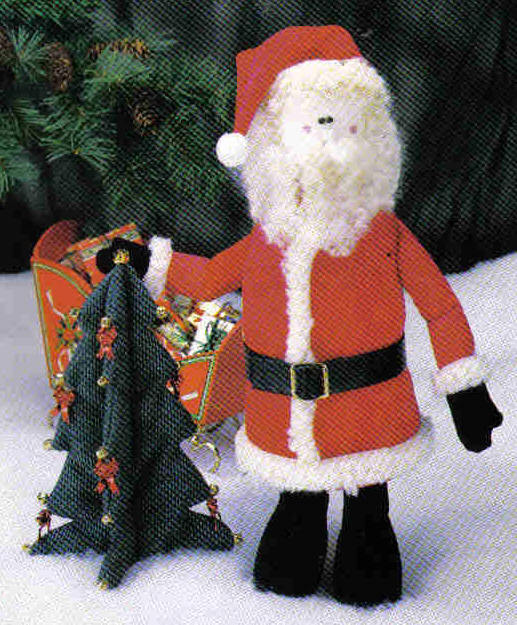 Poly-fil Pattern  D211 stuffed toy Santa Christmas Tree table mantle decor MC1