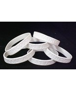 Retinoblastoma Awareness Bracelets White 6 pc Lot New - $9.77