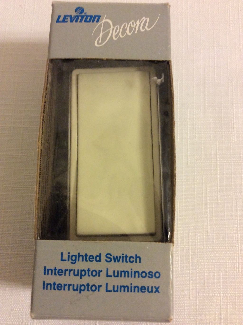 Leviton Lighted Switch Almond Decora Type and 50 similar items