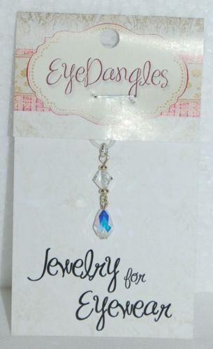 Eye Dangles Jewelry Eyewear Teardrop Clear Crystals 67012 Teardrop