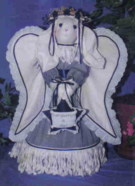 Stella Designs Pattern SD1030 Bunny Angel weighted stuffed table doll decor MC1