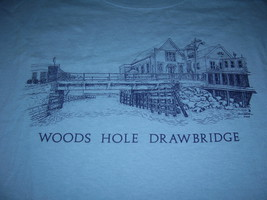 Woods Hole Drawbridge Vintage T-Shirt Sz- Medium  Great Conversation Piece!! - $15.98