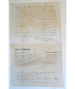 Wm Wright Civil War documents 1814 St Louis MO 9th Co MSM private US mil... - $35.00