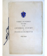 300 Years General Court Massachusetts 1630 1930 view book cod fish notib... - $22.00