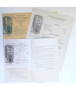 Massachusetts Real Estate Co Boston 1890 3 letters financial statements ... - $8.00
