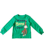 NEW CURIOUS GEORGE Monkey *Wanna Hang Out?* Long Sleeve Top Tee T-shirt ... - £12.42 GBP