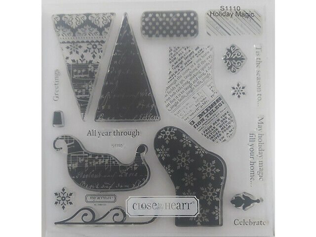 Close to My Heart Holiday Magic Clear Stamp Set #S1110