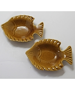 Two (2) Vintage Figural Fish Dipping Bowls Trinket bowls relish dishes - $10.00