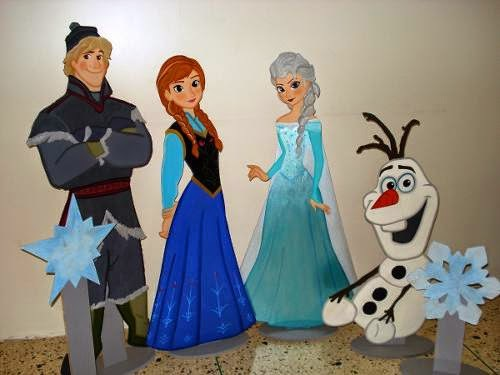 Anna, Elsa, Olaff - Wooden Photo Props - One Character