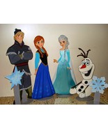 Anna, Elsa, Olaff - Wooden Photo Props - One Ch... - $64.99