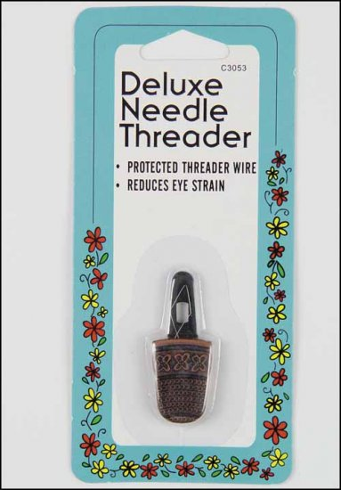 """Deluxe Needle Threader 1.50"""" long cross stitch needle floss accessory"""