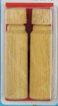 "Wooden Needle Cases 2/pkg 2.25"" long cross stitch needle floss accessory - $4.50"