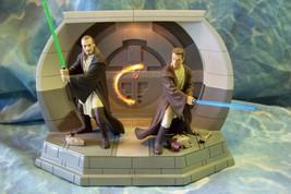 Qui-Gon Jinn & Obi-Wan Kenobi Star Wars TPM Light-up Statue Guardians of... - $199.99