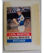 Carl Morton HTF Hostess Twinkies baseball trading card Atlanta Braves 1976 - $6.50