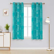 Deconovo Thermal Insulated Blackout Curtains for Bedroom Square Print No... - $28.76