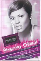 SHAUNIE O'NEAL  @ GALLERY Nightclub Las Vegas Promo Card - $1.95