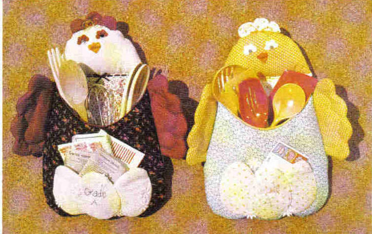 Patch Press 331B Pattern Kitchen Chicken Rooster organizer home decor doll MC1