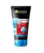 Garnier Pure Active 3in1 Face Scrub Wash Mask Charcoal Anti Blackhead 15... - $16.42