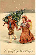 Merry Christmas To You Paul Finkenrath vintage Post Card - $8.00