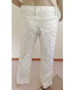 """NWOT  GOLD SIGN MID RISE BOOTCUT """"COCO"""" LINEN TROUSERS  PANTS,SZ 27 4,OF... - $44.50"""