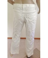 """NWOT  GOLD SIGN MID RISE BOOTCUT """"COCO"""" LINEN TROUSERS  PANTS,SZ 26 2,OF... - $44.50"""