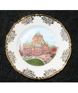 Quebec Canada CHATEAU FRONTENAC SOUVENIR PLATE EAST GERMANY MADE AND HALLMARKED - $14.99
