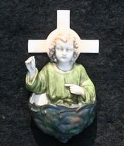 Rare Antique Aelteste Volkstedter Dresden German Porcelain Holy Water Fo... - $49.00