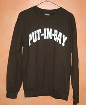 Brown Gildan Put In Bay Ohio Sweat Shirt Men's Size Small - $17.99
