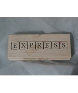 Express Block Letters Rubber Stamp by Inkadinkado  - $2.99