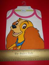 Disney Lady Tramp Baby Clothes 0M-6M Newborn Girl Bodysuit Cat Puppy Dog... - $14.24