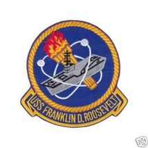 "USS Franklin D. Roosevelt 3.9"" Patch - $20.00"