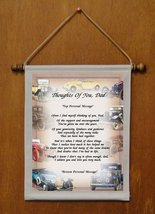 Thoughts Of You, Dad - Personalized Wall Hanging (726-1) - $19.99