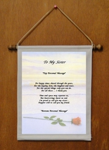 To My Sister - Personalized Wall Hanging (737-1) - $19.99