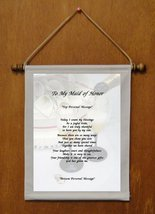 To My Maid of Honor - Personalized Wall Hanging (734-1) - $19.99