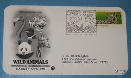 Wild Animals First Day Cover - $5.00