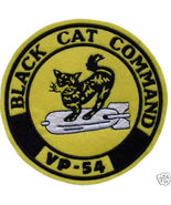 "VP-54 BLACK CAT COMMAND PATROL SQUADRON 5.2"" Patch FELT - $20.00"