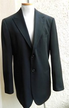 GIORGIO ARMANI Sport Coat Blazer Solid Black 2 Button 50 IT - $177.21