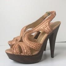 Jessica Simpson Womens 'Gift' Platform Leather Sandal 10B - $30.52