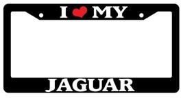 Black License Plate Frame I Heart My Jaguar Cars Auto Accessory Novelty 1641 - $5.99