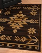 Southwestern Lodge Western Cabin Rustic Tribal Brown Area Rug **FREE SHIPPING** - €48,22 EUR+