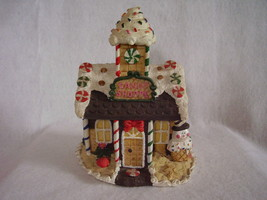 Christmas Village Building Candy Shoppe House Display Resin - $26.00