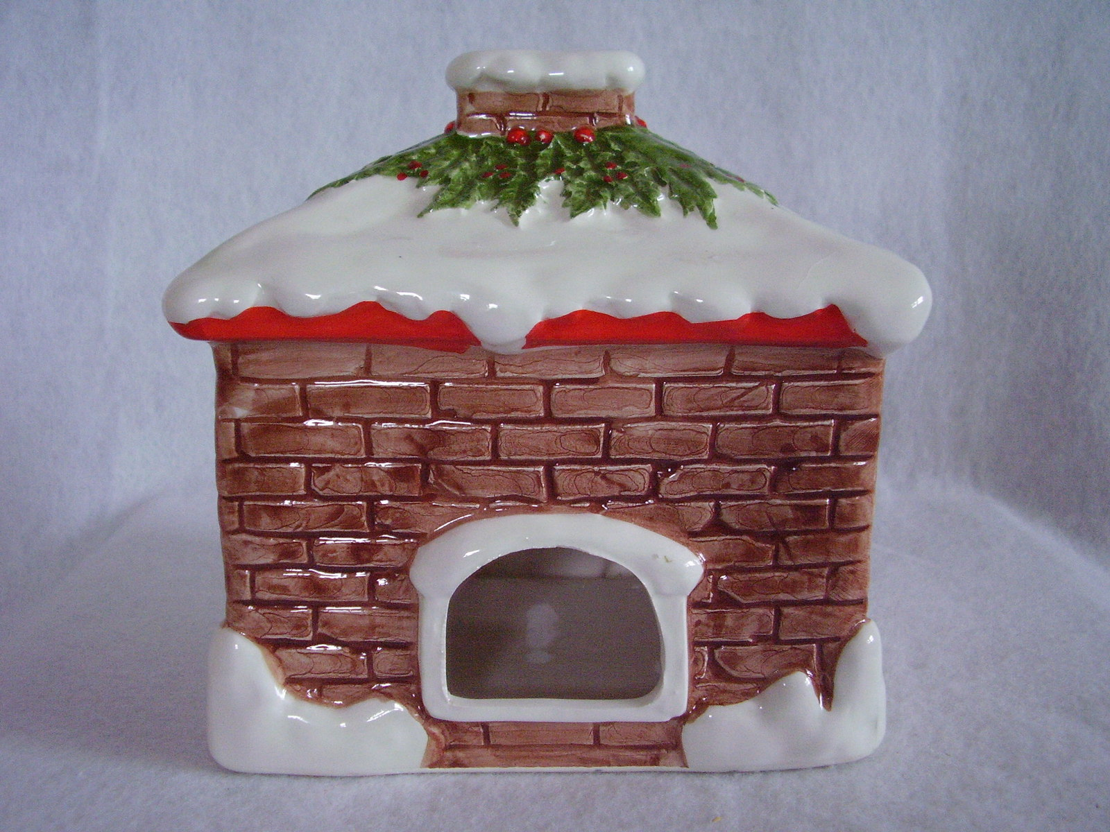 Christmas House Tea Light Votive Candle Holder Ceramic ...