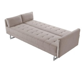 VIG Modern Divani Casa Tejon Beige Fabric Tufted Sofa Bed - €838,18 EUR